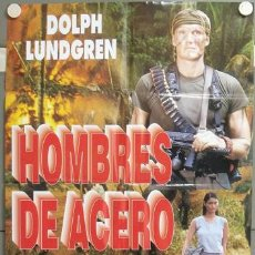 Cine: ND11 HOMBRES DE ACERO DOLPH LUNDGREN POSTER ORIGINAL ESTRENO 70X100. Lote 23293171