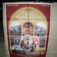 Cine: EL REGRESO DE MARTIN GUERRE GERARD DEPARDIEU NATHALIE BAYE POSTER ORIGINAL 70X100 D254. Lote 24902826