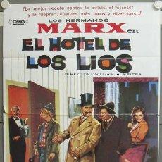 Cine: ND57 EL HOTEL DE LOS LIOS HERMANOS MARX POSTER ORIGINAL 70X100 ESPAÑOL. Lote 23297600