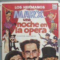 Cine: ND77 UNA NOCHE EN LA OPERA HERMANOS MARX POSTER ORIGINAL 70X100 ESPAÑOL R-73. Lote 23309736