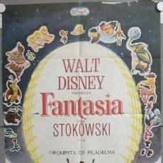 Cine: XC86 FANTASIA WALT DISNEY MICKEY MOUSE STOKOWSKI POSTER ORIGINAL 70X100. Lote 23312259