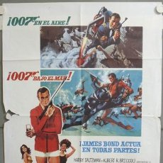 Cine: NE14 OPERACION TRUENO THUNDERBALL JAMES BOND 007 SEAN CONNERY POSTER ORIGINAL 70X100. Lote 23314789
