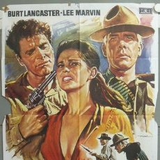 Cine: ND84 LOS PROFESIONALES BURT LANCASTER LEE MARVIN MAC POSTER ORIGINAL 70X100 ESPAÑOL. Lote 23317568