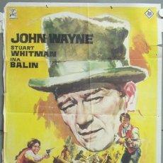 Cine: NE58 LOS COMANCHEROS JOHN WAYNE POSTER ORIGINAL 70X100 ESTRENO. Lote 23401012