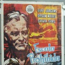 Cinema: NF16 ESCALA PROHIBIDA CURD JURGENS ORSON WELLES SYLVIA SYMS CIFESA POSTER ORIGINAL 70X100 ESTRENO. Lote 23416289