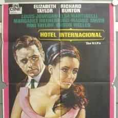 Cine: NF54 HOTEL INTERNACIONAL ELIZABETH TAYLOR RICHARD BURTON POSTER ORIGINAL 70X100 ESPAÑOL. Lote 23436386