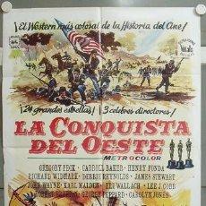 Cine: NF74 LA CONQUISTA DEL OESTE JOHN WAYNE POSTER ORIGINAL 70X100 ESPAÑOL. Lote 23441865
