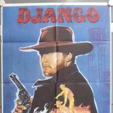 Cine: NF81 DJANGO FRANCO NERO SPAGHETTI POSTER ORIGINAL 70X100 ESPAÑOL. Lote 23442227