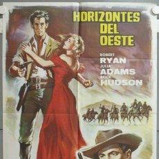 Cine: NG38 HORIZONTES DEL OESTE ROBERT RYAN JULIA ADAMS ROCK HUDSON POSTER ORIGINAL 70X100 ESTRENO. Lote 23532553