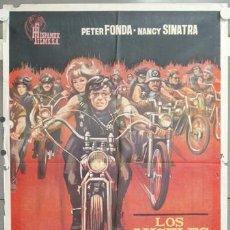 Cine: NH06 LOS ANGELES DEL INFIERNO ROGER CORMAN PETER FONDA POSTER ORIGINAL 70X100 ESTRENO. Lote 114417032