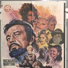 Cine: NH17 BARBA AZUL RICHARD BURTON VIRNA LISI RAQUEL WELCH JANO POSTER ORIGINAL 70X100 ESTRENO. Lote 23676860