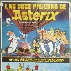 Cine: NH53 LAS DOCE PRUEBAS DE ASTERIX ALBERT UDERZO RENE GOSCINNY POSTER ORIGINAL 70X100 ESTRENO. Lote 23686070