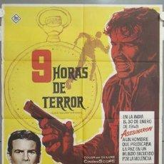 Cine: NH57 9 HORAS DE TERROR HORST BUCCHOLZ DIANE BAKER MAC POSTER ORIGINAL 70X100 ESTRENO. Lote 23686185