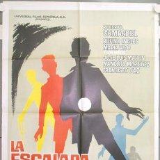 Cine: NH63 LA ESCALADA DE LA MUERTE ROBERTO CAMARDIEL POSTER ORIGINAL ESTRENO 70X100. Lote 23686574
