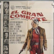 Cine: NH67 EL GRAN COMBATE JOHN FORD RICHARD WIDMARK POSTER ORIGINAL ESPAÑOL 70X100 ESTRENO. Lote 101911686