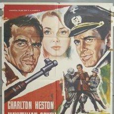 Cine: NH69 UNA TUMBA AL AMANECER CHARLTON HESTON MAXIMILIAN SCHELL POSTER ORIGINAL 70X100 ESTRENO. Lote 23697597