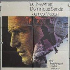 Cine: NI31 EL HOMBRE DE MACKINTOSH PAUL NEWMAN JOHN HUSTON POSTER ORIGINAL 70X100 ESTRENO. Lote 23716609