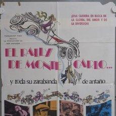 Cine: NI38 EL RALLY DE MONTECARLO AUTOMOVILISMO TONY CURTIS POSTER ORIGINAL 70X100 ESTRENO. Lote 23716856