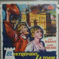 Cine: NI65 EL INTREPIDO LA TOUR JEAN MARAIS ELEONORA ROSSI DRAGO POSTER ORIGINAL 70X100 ESTRENO. Lote 23732031