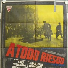 Cine: NI98 A TODO RIESGO LINO VENTURA JEAN-PAUL BELMONDO MAC POSTER ORIGINAL 70X100 ESTRENO. Lote 23740944