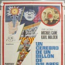 Cine: NJ16 UN CEREBRO DE UN BILLON DE DOLARES MICHAEL CAINE POSTER ORIGINAL 70X100 DEL ESTRENO. Lote 23795953
