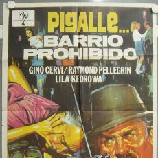 Cine: RR78D MAIGRET PIGALLE BARRIO PROHIBIDO GINO CERVI GEORGES SIMENON HERMIDA POSTER ORIG 70X100 ESTRENO. Lote 23796386