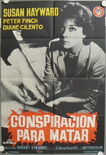 NJ27 CONSPIRACION PARA MATAR SUSAN HAYWARD POSTER ORIGINAL 70X100 DEL ESTRENO (Cine - Posters y Carteles - Acción)