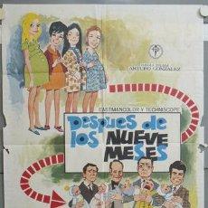 Cine: NJ74 DESPUES DE LOS NUEVE MESES CONCHA VELASCO JUANJO MENENDEZ POSTER 70X100 ORIGINAL ESTRENO. Lote 23817560