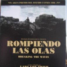 Cinéma: ROMPIENDO LAS OLAS - POSTER CARTEL ORIGINAL LARS VON TRIER BREAKING THE WAVES EMILY WATSON UDO KIER. Lote 203456182