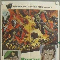Cine: NJ93 BOINAS VERDES JOHN WAYNE POSTER ORIGINAL 70X100 ESTRENO. Lote 23871470
