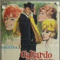 Cine: NK10 GALLARDO Y CALAVERA FRANK SINATRA POSTER ORIGINAL 70X100 ESTRENO. Lote 23872816