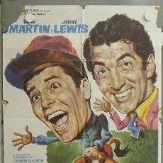 Cine: NK33 EL JINETE LOCO JERRY LEWIS DEAN MARTIN POSTER ORIGINAL 70X100 DEL ESTRENO. Lote 23959631