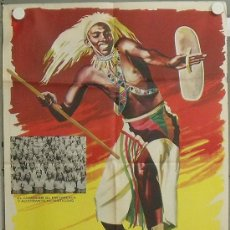 Cine: NK41 TOKENDE GERARD DE BOE DOCUMENTAL AFRICA NEGRA POSTER ORIGINAL 70X100 ESTRENO. Lote 23960107