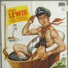 Cine: NK69 ADIOS MI LUNA DE MIEL JERRY LEWIS POSTER ORIGINAL 70X100 ESTRENO. Lote 23963026