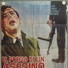Cine: NK71 EL PRECIO DE UN ASESINO JULIAN MATEOS VICTOR VALVERDE MIGUEL LLUCH POSTER ORIG 70X100 ESTRENO. Lote 23963083