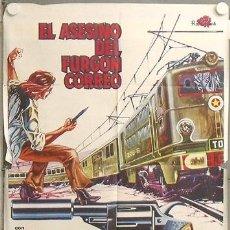 Cine: NL21 EL ASESINO DEL FURGON DE CORREO POSTER ORIGINAL 70X100 ESTRENO. Lote 23978590