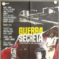 Cine: NL26 GUERRA SECRETA HENRY FONDA BOURVIL VITTORIO GASSMAN POSTER ORIGINAL 70X100 ESTRENO. Lote 23978951