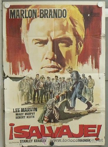 NL42 SALVAJE MARLON BRANDO JANO POSTER ORIGINAL 70X100 ESTRENO CDO (Cine - Posters y Carteles - Acción)