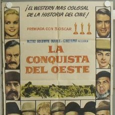 Cine: NL48 LA CONQUISTA DEL OESTE JOHN WAYNE POSTER ORIGINAL 70X100 ESTRENO. Lote 23998740