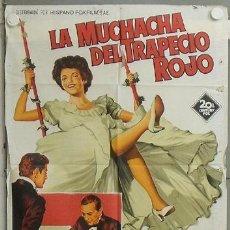 Cine: NL63 LA MUCHACHA DEL TRAPECIO ROJO JOAN COLLINS POSTER SOLIGO ORIGINAL 70X100 ESTRENO LITOGRAFIA. Lote 23999252
