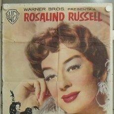 Cine: RQ96D TIA Y MAMA ROSALIND RUSSELL POSTER ORIGINAL ESTRENO 70X100 . Lote 24015198