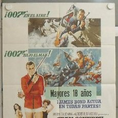 Cine: NM03 OPERACION TRUENO THUNDERBALL JAMES BOND 007 SEAN CONNERY POSTER ORIGINAL 70X100 DEL ESTRENO. Lote 24016317