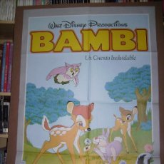 Cine: BAMBI, DE WALT DISNEY. POSTER.. Lote 24204416