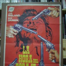 Cine: LA HORA DEL CORAJE, CON JOHN IRELAND. POSTER 69 X 99 CMS. AÑO: 1968. DIBUJANTE: JANO. Lote 24238424
