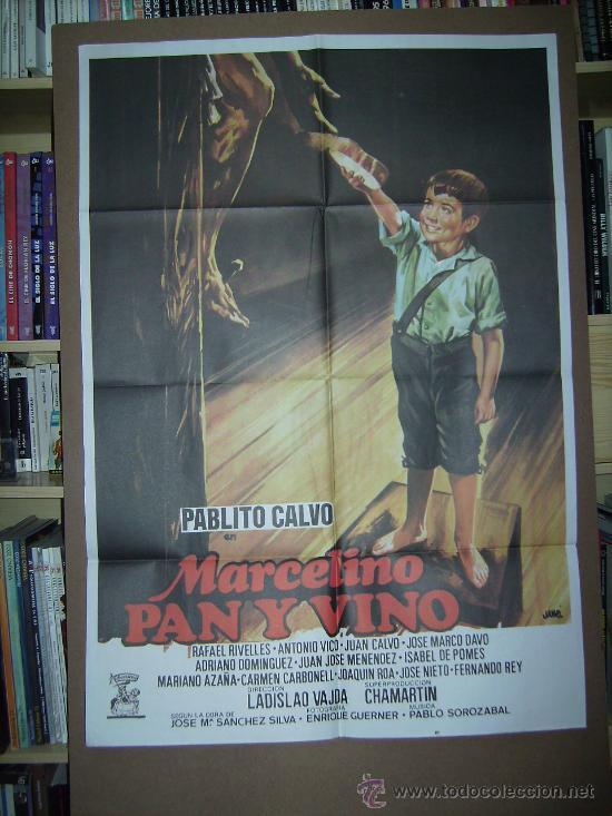 MARCELINO PAN Y VINO, CON PABLITO CALVO. POSTER. (Cine - Posters y Carteles - Clasico Español)