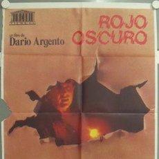 Cine: NM31 ROJO OSCURO DARIO ARGENTO POSTER ORIGINAL 70X100 ESTRENO. Lote 24267681
