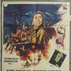 Cine: NM50 LOS HEROES DE TELEMARK KIRK DOUGLAS RICHARD HARRIS POSTER ORIGINAL 70X100 ESTRENO. Lote 24275459