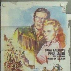 Cine: NM55 CARA A LA MUERTE DANA ANDREWS PIPER LAURIE POSTER ORIGINAL 70X100 ESTRENO . Lote 24275875