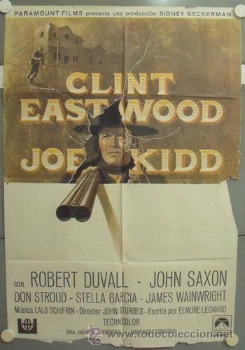 NM67 JOE KIDD CLINT EASTWOOD POSTER ORIGINAL 70X100 ESTRENO (Cine - Posters y Carteles - Westerns)