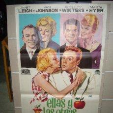 Cine: ELLAS Y LAS OTRAS JANET LEIGH POSTER ORIGINAL 70X100 ESTRENO JANO. Lote 27219989